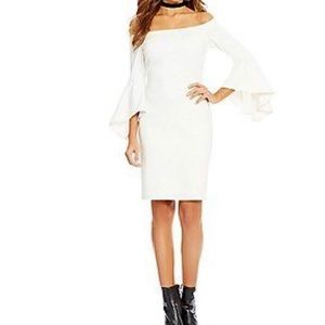 Gianni Bini Tammy Off Shoulder Bell Sleeve Dress.